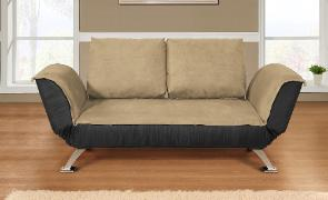 This Convertible sofa has a more contemporary style.