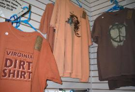 Dirt shirts are part of a full line of clothes available by Earth Creations.