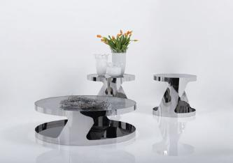 You can't go wrong with these Crome tables, they belen with both modern and Retro styles.