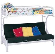 Also child hard wood and metal futon Bunk beds with twin bunk and a futon below