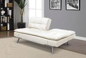 This Modern Convertible couch has a split back design and a contemporary look.